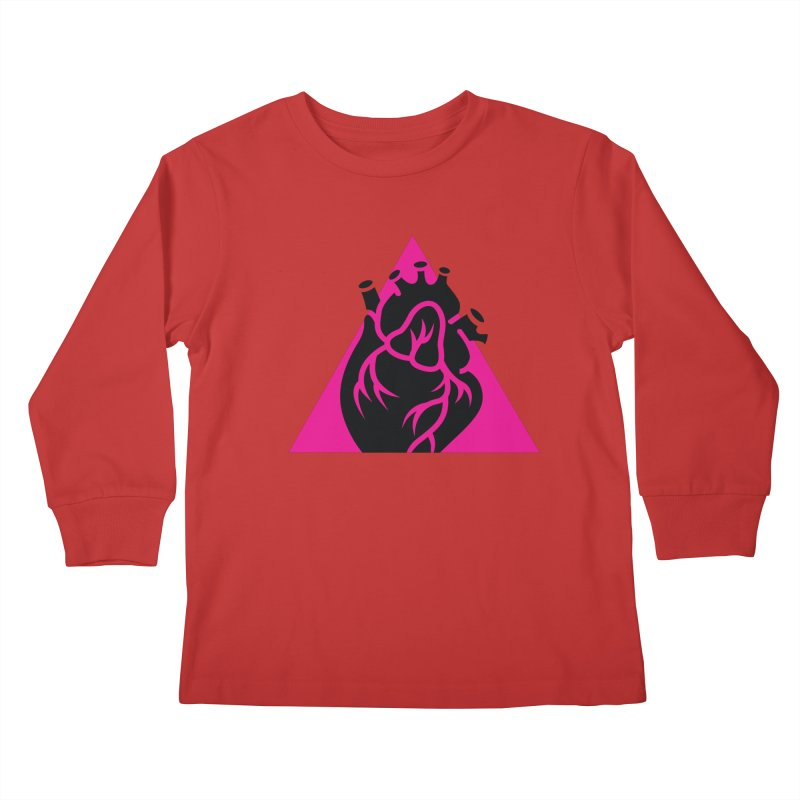 Pink Triangle Kids Longsleeve T-Shirt by Blake Wood Ink