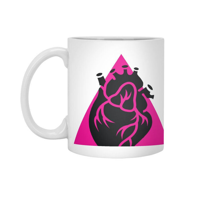 Pink Triangle Accessories Mug by Blake Wood Ink