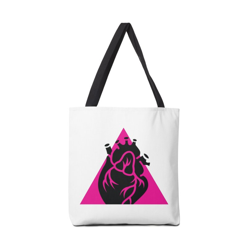 Pink Triangle Accessories Bag by Blake Wood Ink