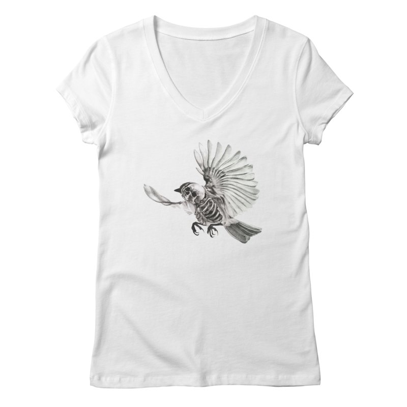 Icarus Women's V-Neck by Blake Wood Ink