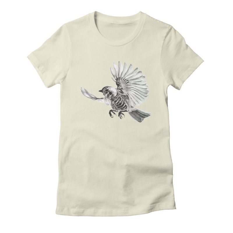 Icarus Women's Fitted T-Shirt by Blake Wood Ink