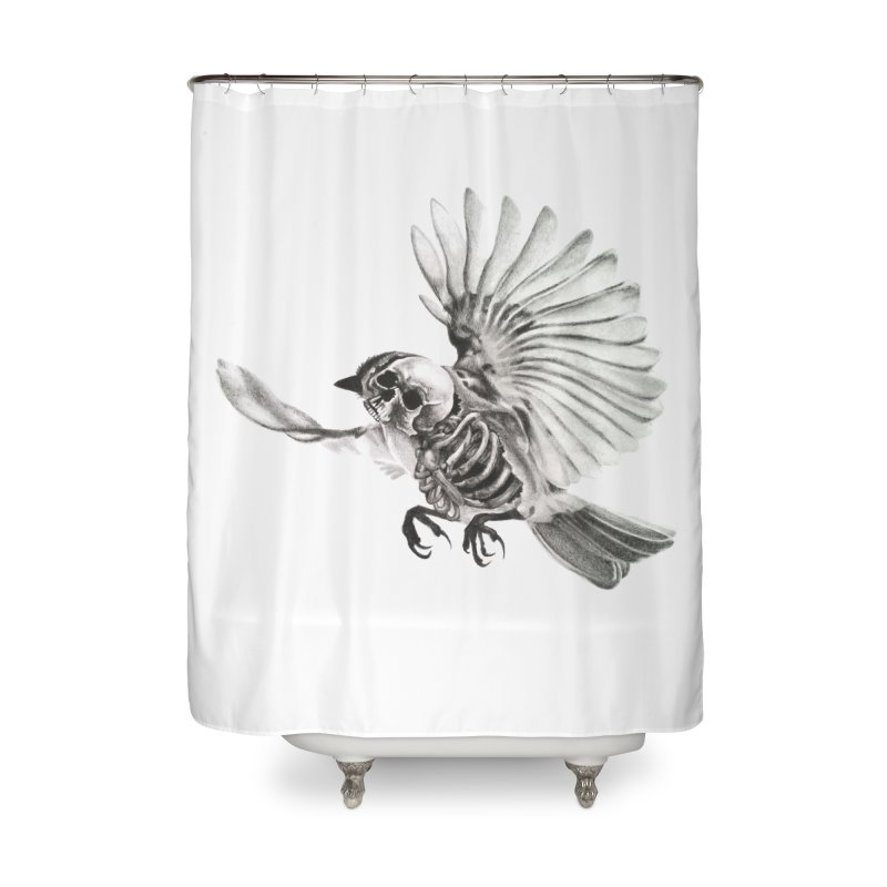 Icarus Home Shower Curtain by Blake Wood Ink
