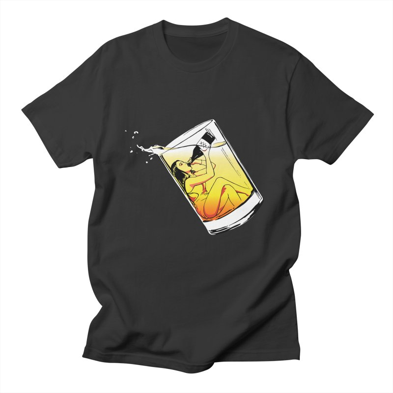 Bottoms Up in Men's T-shirt Smoke by Blake Wood Ink