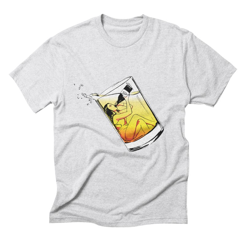 Bottoms Up Men's Triblend T-shirt by Blake Wood Ink