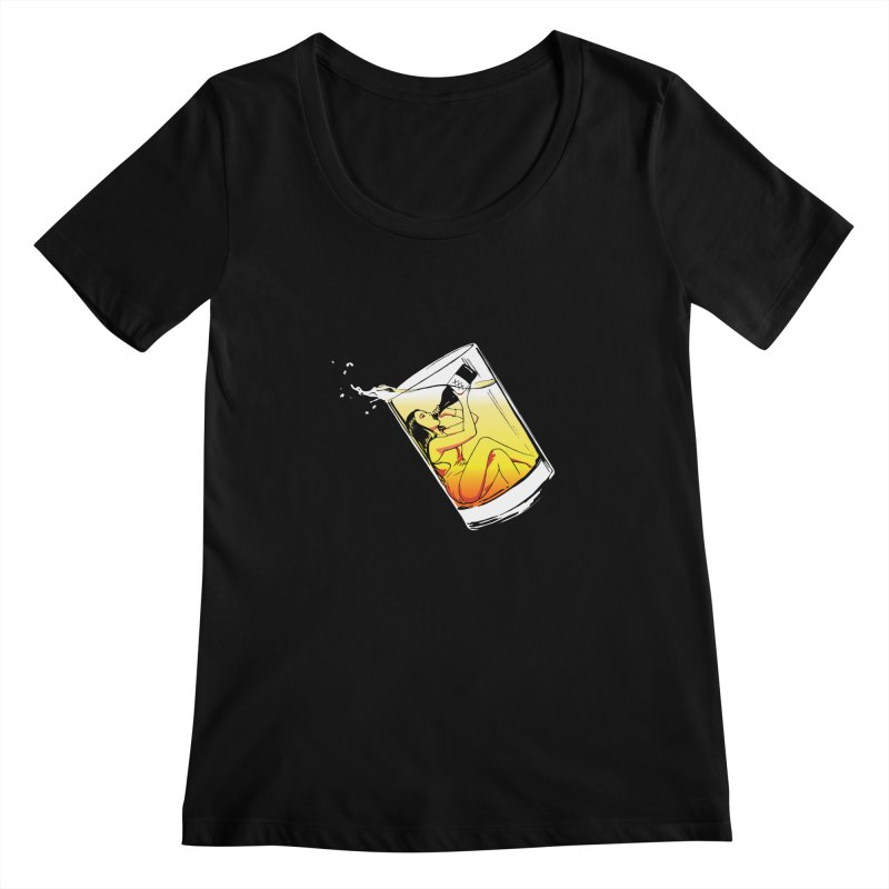 Bottoms Up Women's Scoopneck by Blake Wood Ink