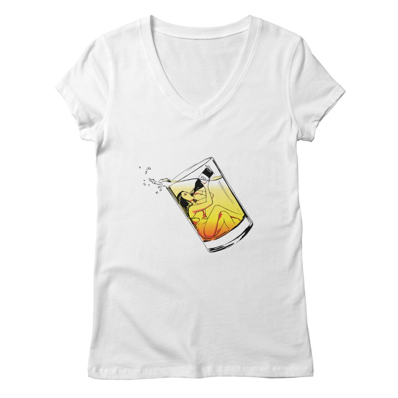 Bottoms Up Women's V-Neck by Blake Wood Ink