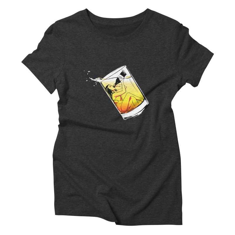 Bottoms Up Women's Triblend T-shirt by Blake Wood Ink
