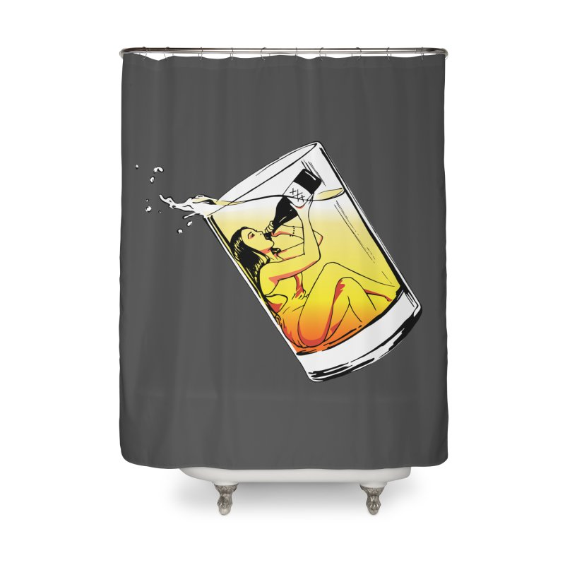 Bottoms Up Home Shower Curtain by Blake Wood Ink