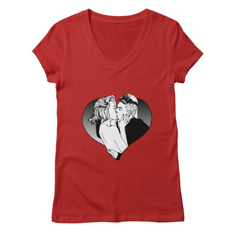 Impassioned Women's V-Neck by Blake Wood Ink