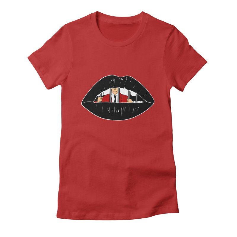 Silenced Women's Fitted T-Shirt by Blake Wood Ink