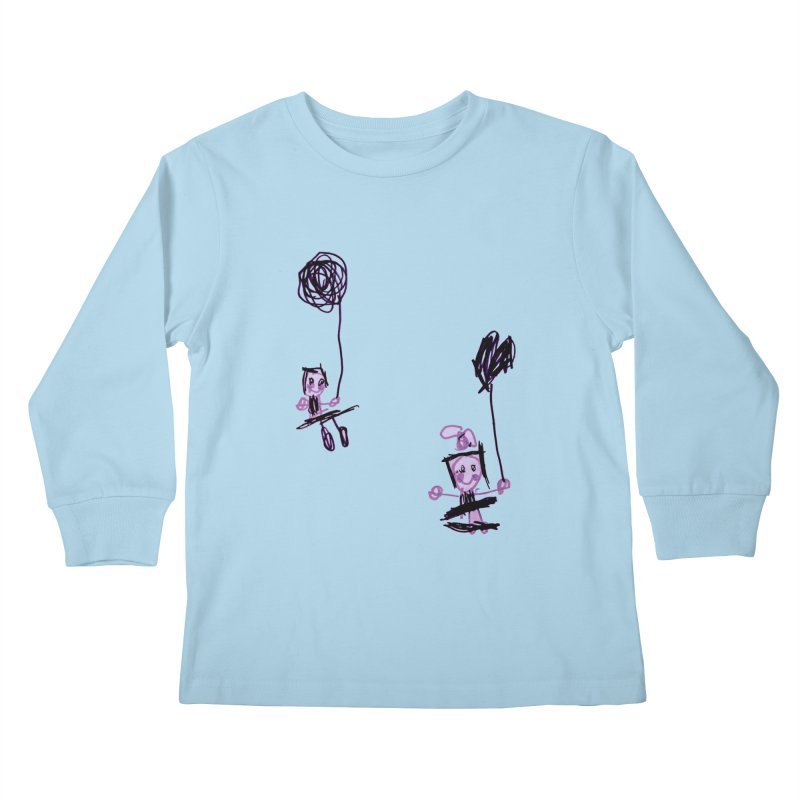 Maria do Carmo - Kids on a swing Kids Longsleeve T-Shirt by Blame Dutchie's Tee House