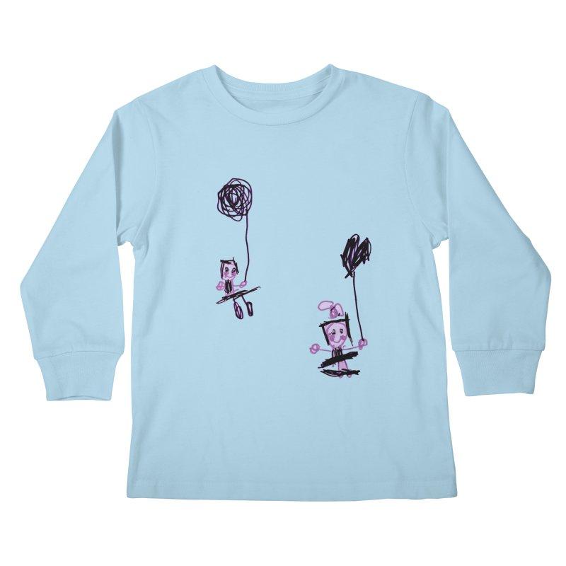 Maria do Carmo - Kids on a swing Kids Longsleeve T-Shirt by Blame Dutchie's Tee House
