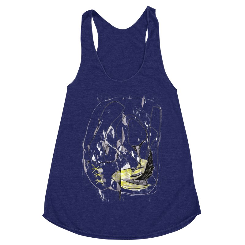Maria do Carmo - Abstract #1 Women's Racerback Triblend Tank by Blame Dutchie's Tee House