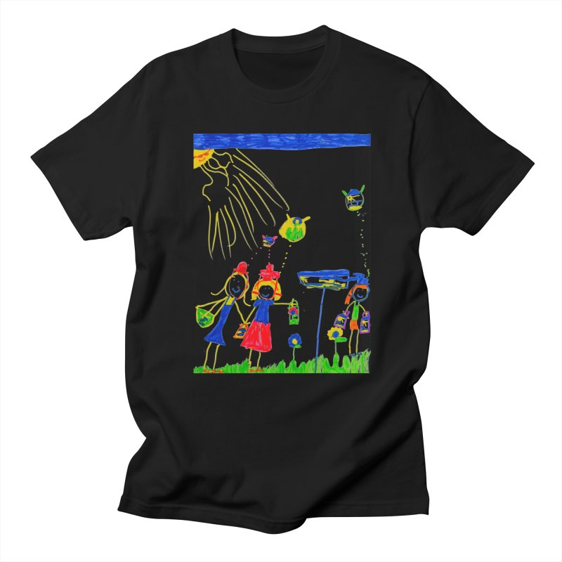 Maria do Carmo - Thinking of Teapots in Men's T-Shirt Black by Blame Dutchie's Tee House