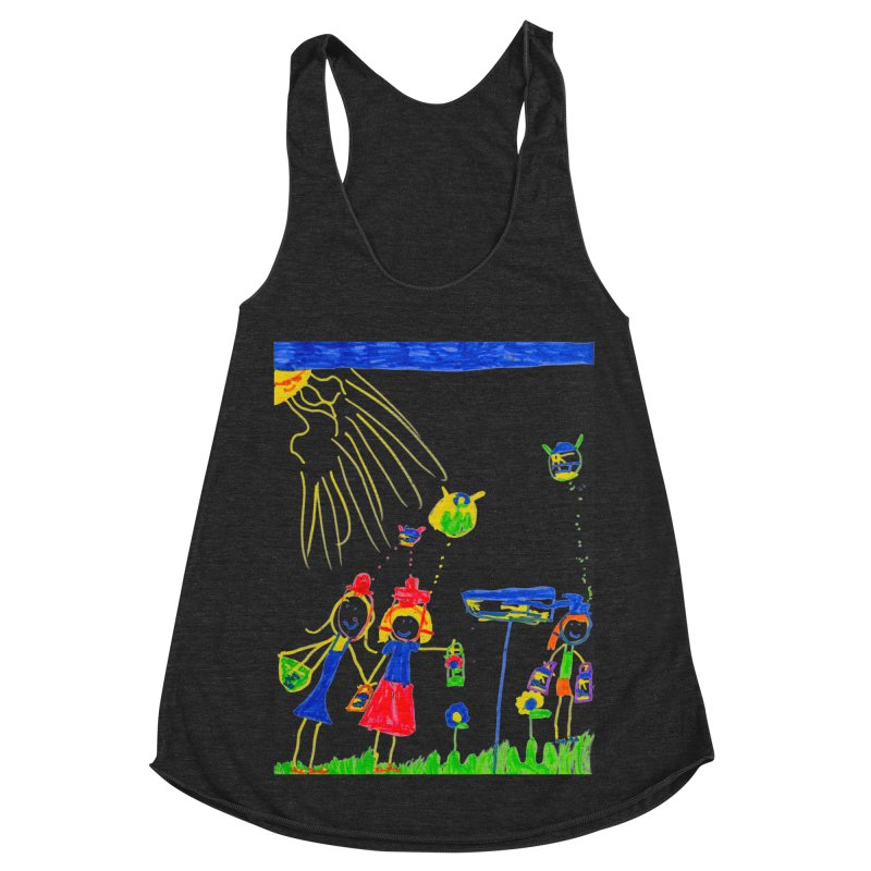 Maria do Carmo - Thinking of Teapots Women's Racerback Triblend Tank by Blame Dutchie's Tee House