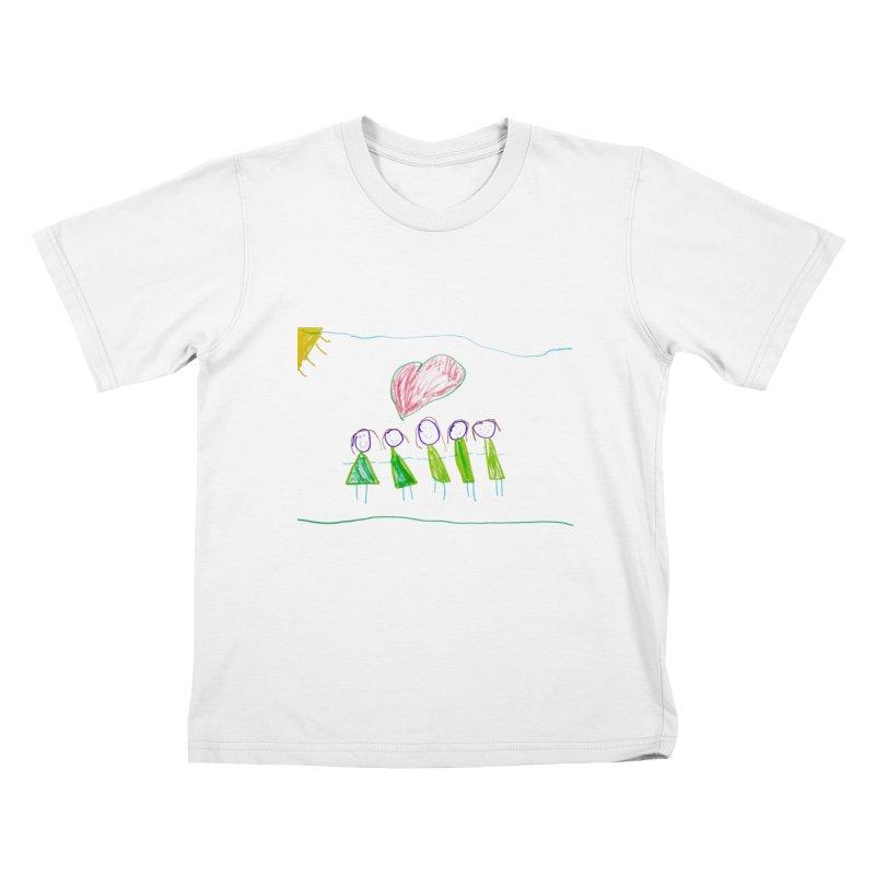 Mario do Carmo - LOVE X 5 Kids T-Shirt by Blame Dutchie's Tee House