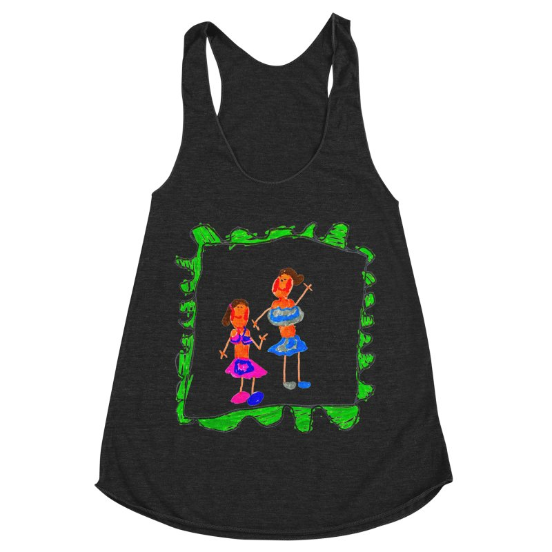 Maria do Carmo - Friends on a stamp Women's Racerback Triblend Tank by Blame Dutchie's Tee House