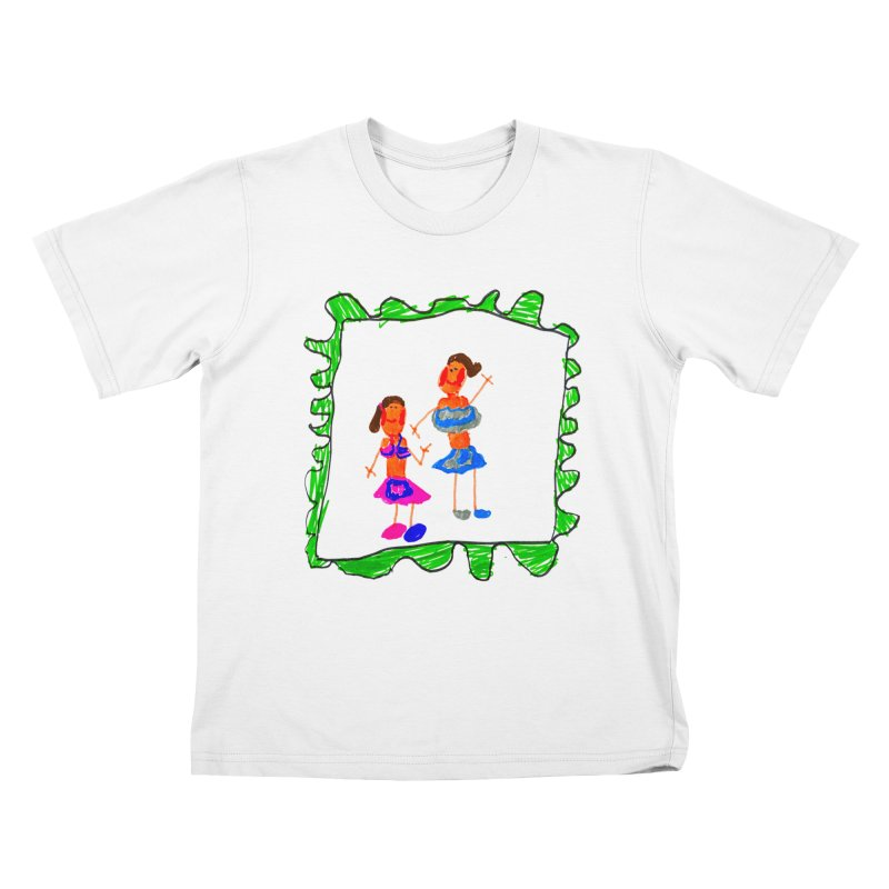 Maria do Carmo - Friends on a stamp Kids T-Shirt by Blame Dutchie's Tee House
