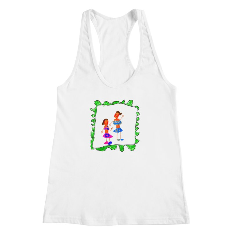 Maria do Carmo - Friends on a stamp Women's Racerback Tank by Blame Dutchie's Tee House