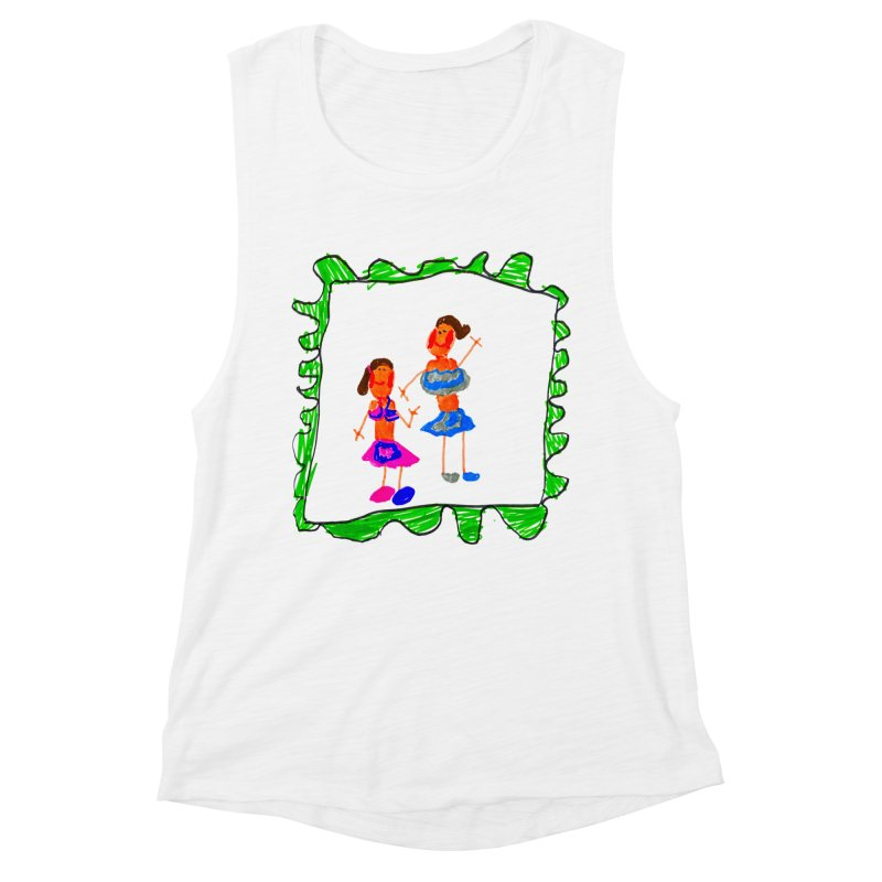 Maria do Carmo - Friends on a stamp Women's Muscle Tank by Blame Dutchie's Tee House