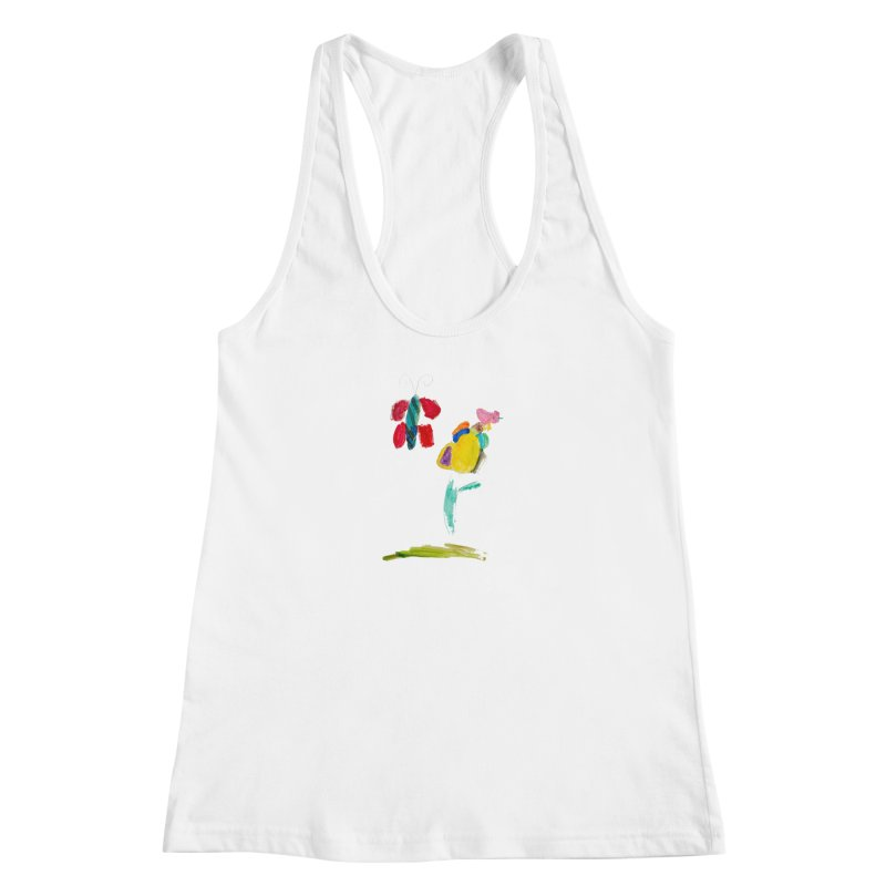 Maria do Carmo - Borboleta Women's Racerback Tank by Blame Dutchie's Tee House