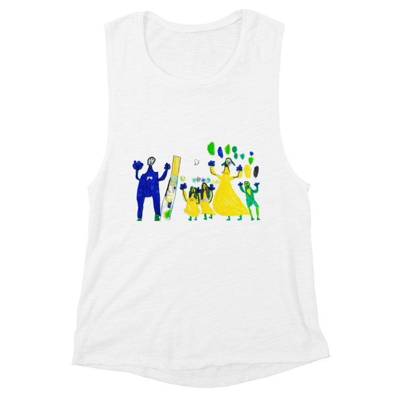 Maria do Carmo - A sagrada família Women's Muscle Tank by Blame Dutchie's Tee House