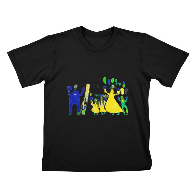 Maria do Carmo - A sagrada família Kids T-Shirt by Blame Dutchie's Tee House