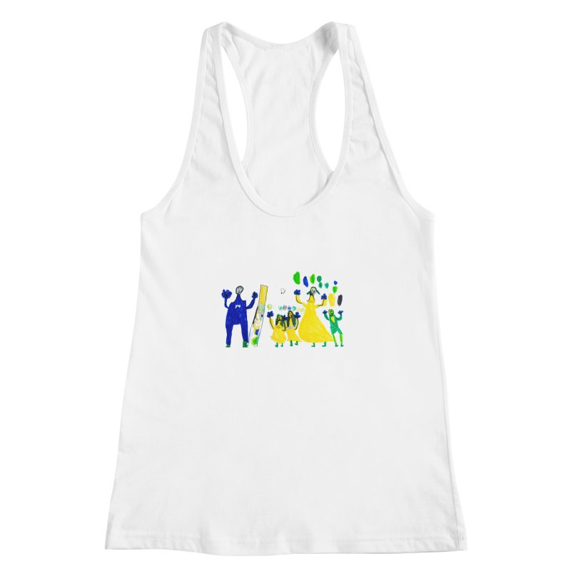Maria do Carmo - A sagrada família Women's Racerback Tank by Blame Dutchie's Tee House