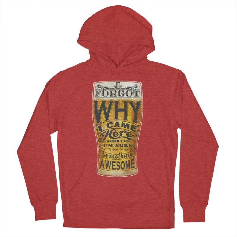 something awesome Men's French Terry Pullover Hoody by blancajp's Artist Shop