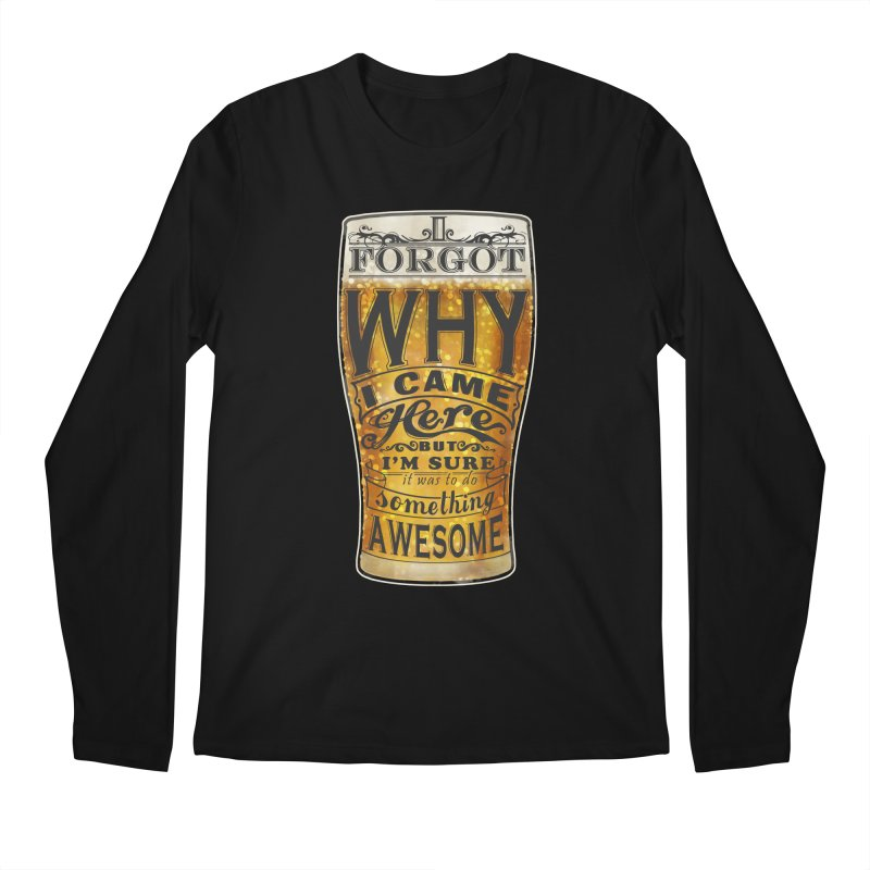 something awesome Men's Regular Longsleeve T-Shirt by blancajp's Artist Shop