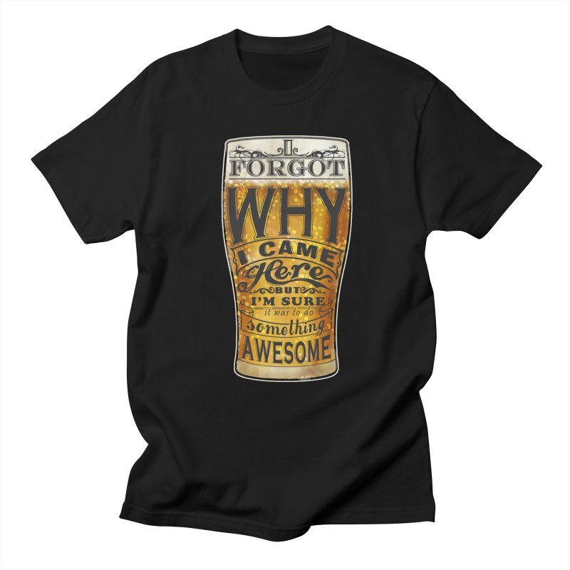 something awesome in Men's T-shirt Black by blancajp's Artist Shop