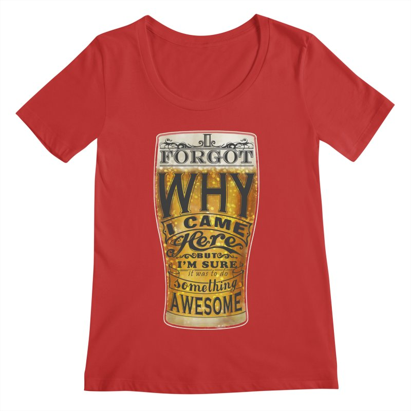 something awesome Women's Regular Scoop Neck by blancajp's Artist Shop
