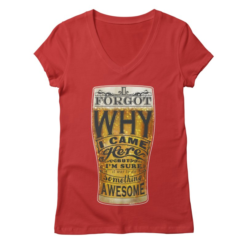 something awesome Women's Regular V-Neck by blancajp's Artist Shop