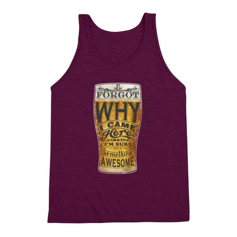 something awesome Men's Triblend Tank by blancajp's Artist Shop