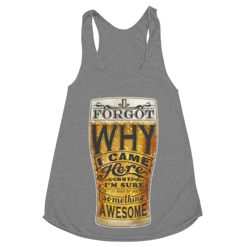 something awesome Women's Racerback Triblend Tank by blancajp's Artist Shop
