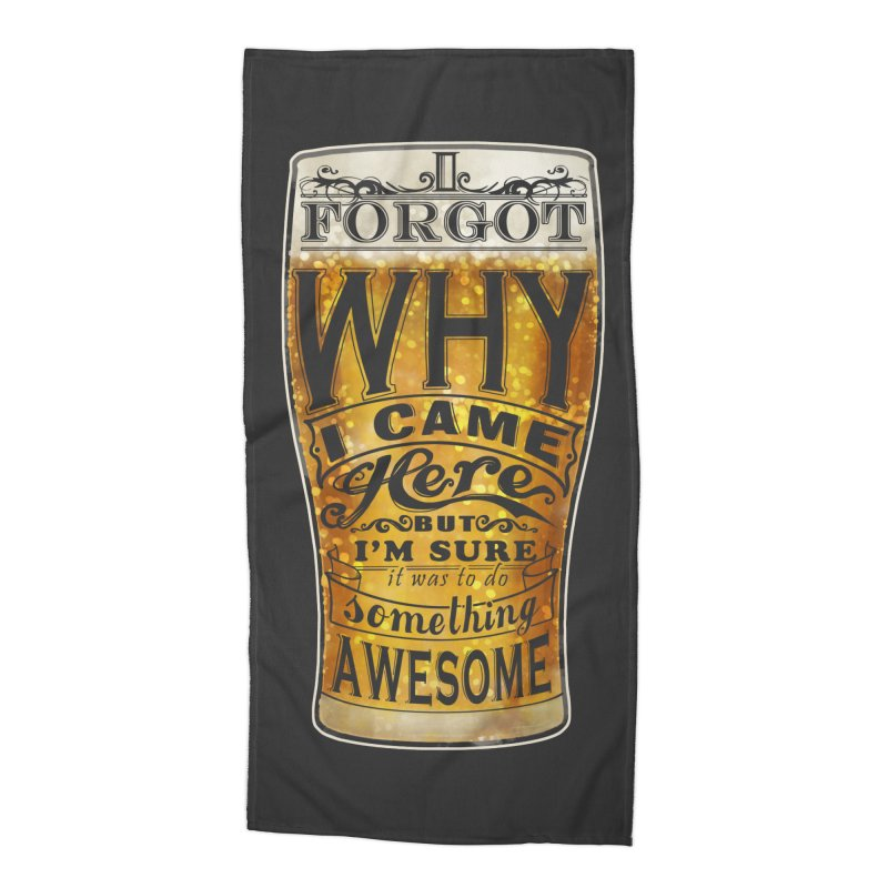 something awesome Accessories Beach Towel by blancajp's Artist Shop