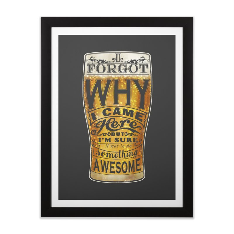 something awesome Home Framed Fine Art Print by blancajp's Artist Shop