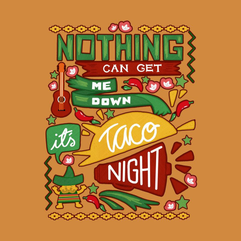 Taco night Men's Baseball Triblend T-Shirt by blancajp's Artist Shop