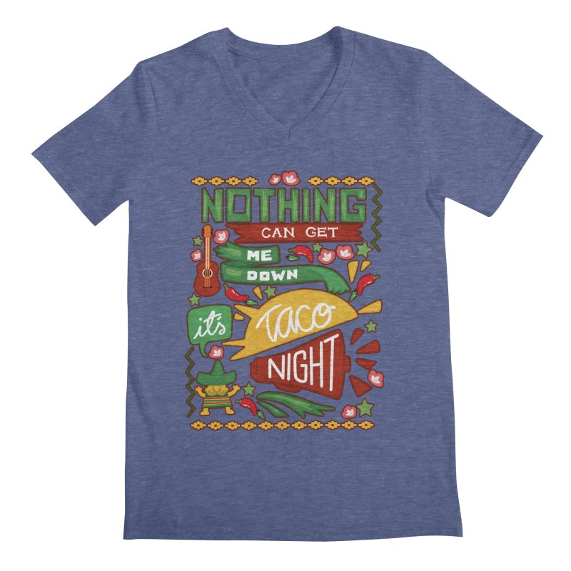 Taco night Men's V-Neck by blancajp's Artist Shop
