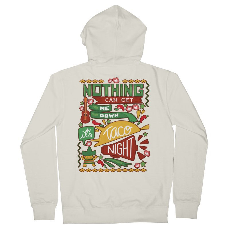 Taco night Women's French Terry Zip-Up Hoody by blancajp's Artist Shop