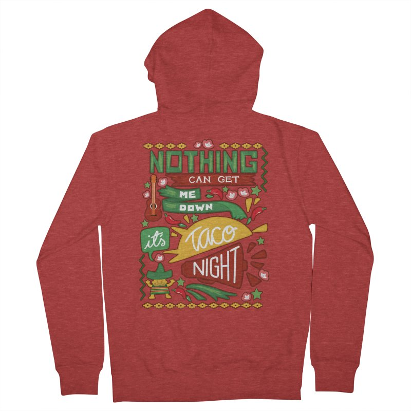 Taco night Men's French Terry Zip-Up Hoody by blancajp's Artist Shop