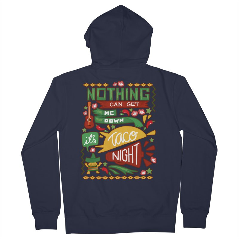 Taco night Men's Zip-Up Hoody by blancajp's Artist Shop