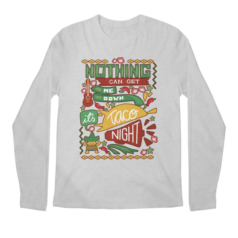 Taco night Men's Regular Longsleeve T-Shirt by blancajp's Artist Shop