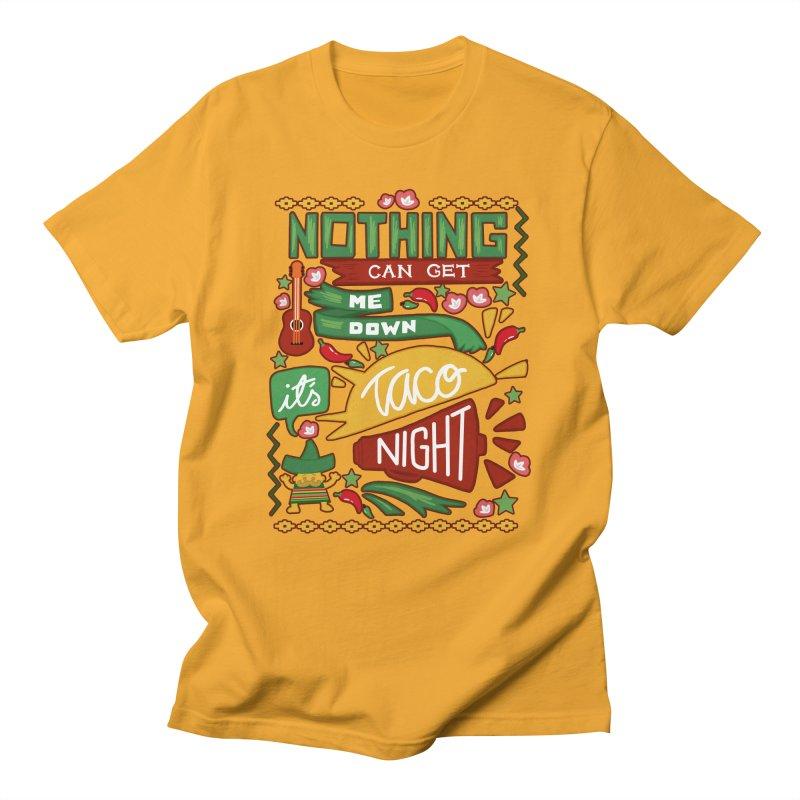 Taco night in Women's Regular Unisex T-Shirt Gold by blancajp's Artist Shop