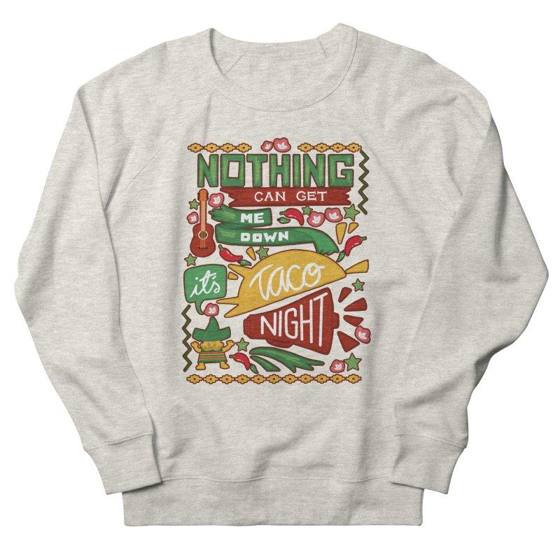 Taco night Men's French Terry Sweatshirt by blancajp's Artist Shop