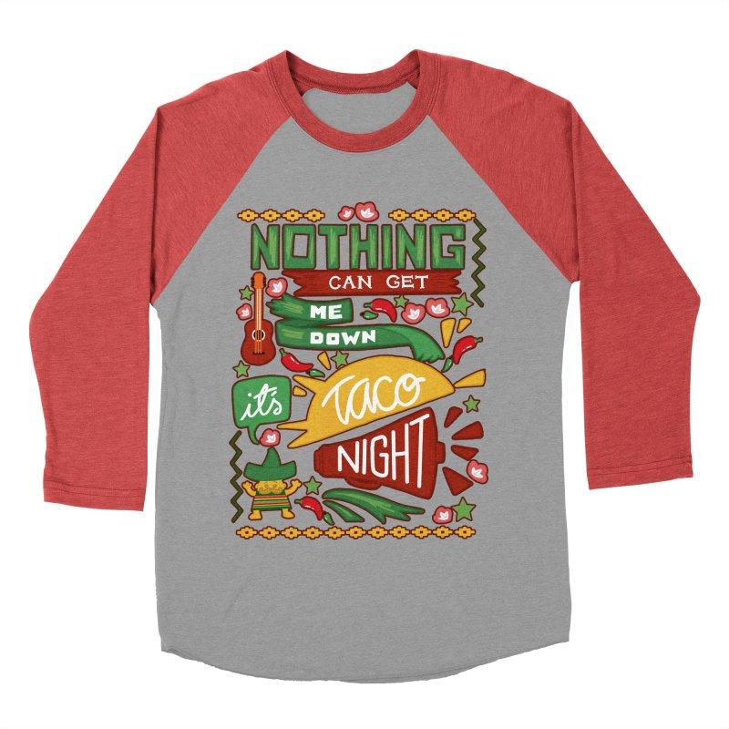 Taco night Women's Baseball Triblend T-Shirt by blancajp's Artist Shop