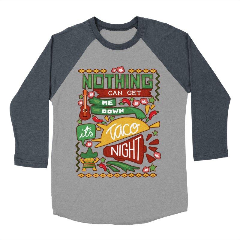 Taco night Women's Baseball Triblend Longsleeve T-Shirt by blancajp's Artist Shop