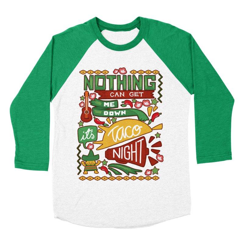 Taco night Men's Baseball Triblend Longsleeve T-Shirt by blancajp's Artist Shop