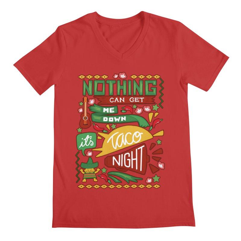 Taco night Men's Regular V-Neck by blancajp's Artist Shop