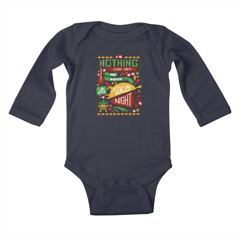 Taco night Kids Baby Longsleeve Bodysuit by blancajp's Artist Shop